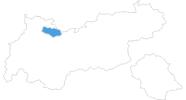 Karte der Skigebiete in der Tiroler Zugspitz Arena