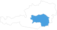 map of all ski Resorts in Styria