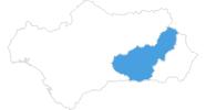 Karte der Skigebiete in der Sierra Nevada