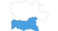 Karte der Skigebiete im Iberisches Scheidegebirge