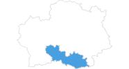 Karte der Skigebiete in den Rhodopen