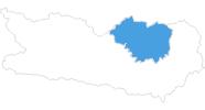 Karte der Skigebiete in der Erlebnisregion Hochosterwitz - Kärntenmitte