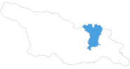 Karte der Skigebiete in Mzcheta-Mtianeti