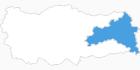 Karte der Skigebiete in Ostanatolien
