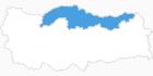 Karte der Skigebiete in der Schwarzmeerregion
