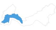 Karte der Skigebiete in Antalya