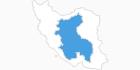 Karte der Skigebiete im Zentraliran