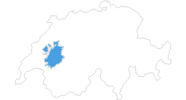 map of all ski resorts in the Fribourg region