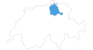 map of all ski resorts in the Zurich region