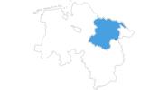 Karte der Schneeberichte in der Lüneburger Heide