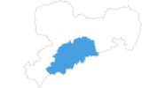 map of all ski resorts in the Ore Mountains