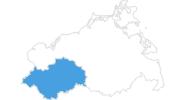Karte der Skigebiete in Mecklenburg-Schwerin