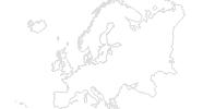 Karte der Langlaufgebiete in Europa