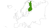 map of all cross country ski areas in Finland