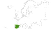 Karte der Langlaufgebiete in Spanien