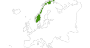 map of all cross country ski areas in Norway