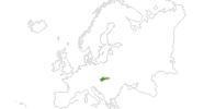 Karte der Langlaufgebiete in der Slowakei