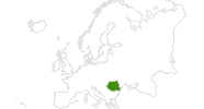 Karte der Langlaufgebiete in Rumänien