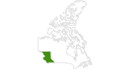 map of all cross country ski areas in British Columbia