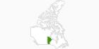 Karte der Langlaufgebiete in Manitoba