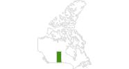 Karte der Langlaufgebiete in Saskatchewan