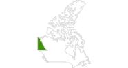 Karte der Langlaufgebiete in Yukon