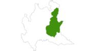 Karte der Langlaufgebiete in Brescia