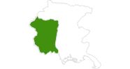 Karte der Langlauf in Pordenone und Umgebung