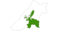 Karte der Langlaufgebiete in Süd-Tröndelag