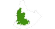Karte der Langlaufgebiete in Vest-Agder