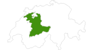 Karte der Langlaufgebiete im Berner Oberland