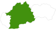 map of all cross country ski areas in Central Slovakia