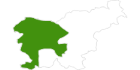 Karte der Langlaufgebiete in Westslowenien