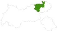 Karte der Langlaufgebiete im Kufsteinerland