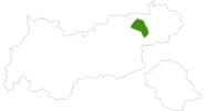 Karte der Langlaufgebiete in der Ferienregion Hohe Salve