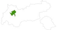 Karte der Langlaufgebiete in der Ferienregion Imst
