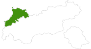 map of all cross country ski areas in the Naturparkregion Reutte