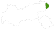 map of all cross country ski areas in the Pillerseetal