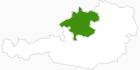 Karte der Langlaufgebiete in Oberösterreich
