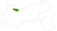map of all cross country ski areas in the Tyrolean Zugspitz Arena