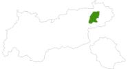 Karte der Langlaufgebiete SkiWelt Wilder Kaiser - Brixental