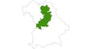 Karte der Langlaufgebiete Fränkische Alb