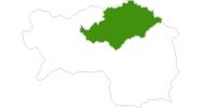 Karte der Langlaufgebiete in der Hochsteiermark