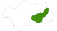 Karte der Langlaufgebiete in der Sierra Nevada