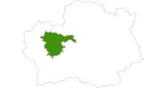 Karte der Langlaufgebiete in Vitosha