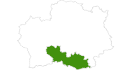 Karte der Langlaufgebiete in den Rhodopen