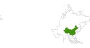 Karte der Langlaufgebiete in China