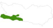 Karte der Langlauf in Nassfeld-Pressegger See - Lesachtal - Weissensee