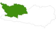 Karte der Langlaufgebiete im Oberdrautal