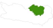 Karte der Langlaufgebiete in der Erlebnisregion Hochosterwitz - Kärntenmitte